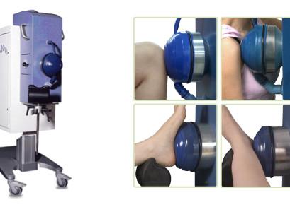צילום של מכשיר האורטוספק במגע עם חלקי גוף שונים