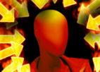 חצים כתומים וצהובים סביב ראש מצוייר